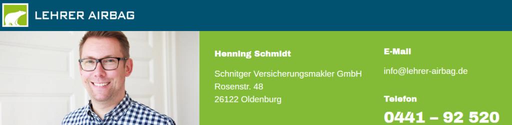 Lehrer-Airbag Henning Schmidt